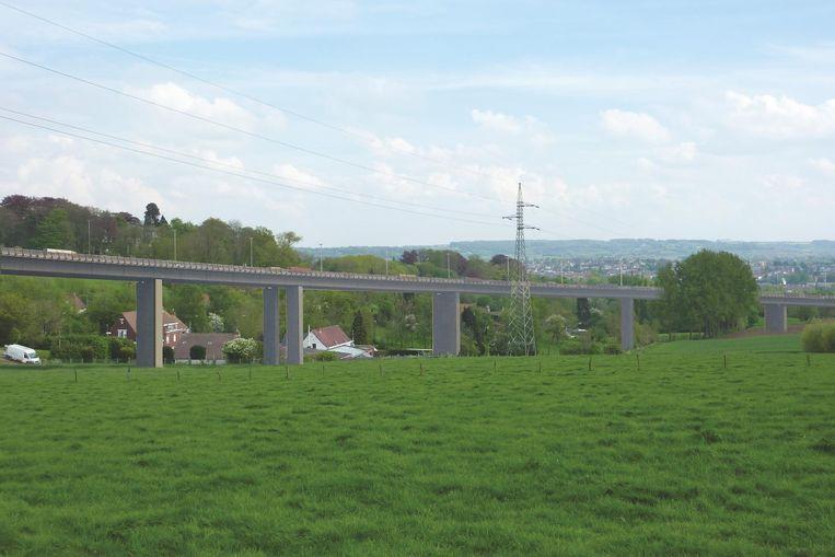 Dit beeld zullen we niet te zien krijgen in de streek: een 500 meter lang viaduct door Schavaert. Dit zou een onderdeel geweest zijn van een tracé dat loopt van de huidige N60 ter hoogte van de Kruisstraat tot onder de Zonnestraat richting Leuzesteenweg.