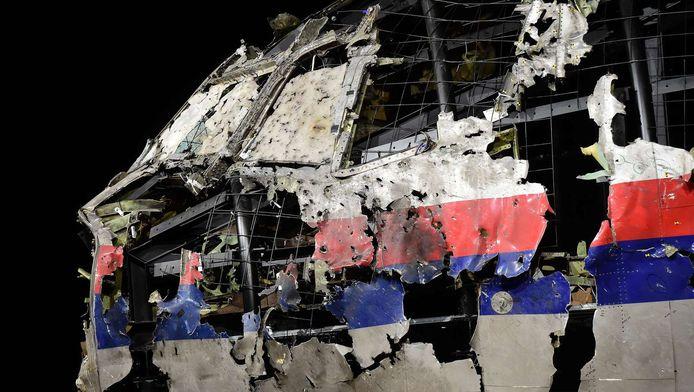 Gereconstrueerd vliegtuig MH17