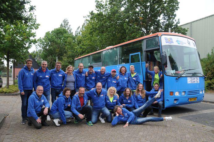 Het complete Bru's Running Team dat meedeed aan de 30ste editie van de Roparun.
