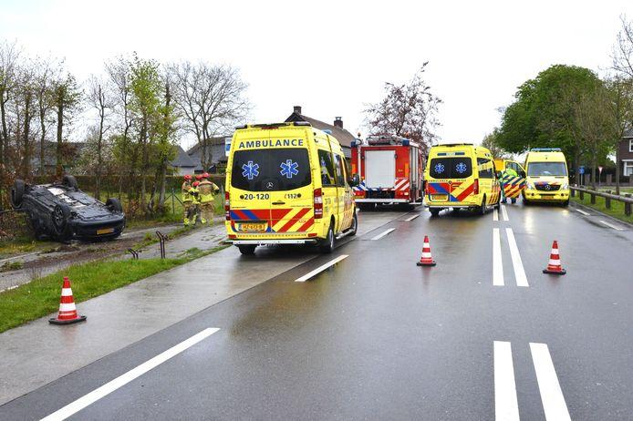 Ongeluk op de Baarleseweg in Chaam.