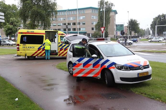 De vrouw moest met de ambulance mee naar het ziekenhuis