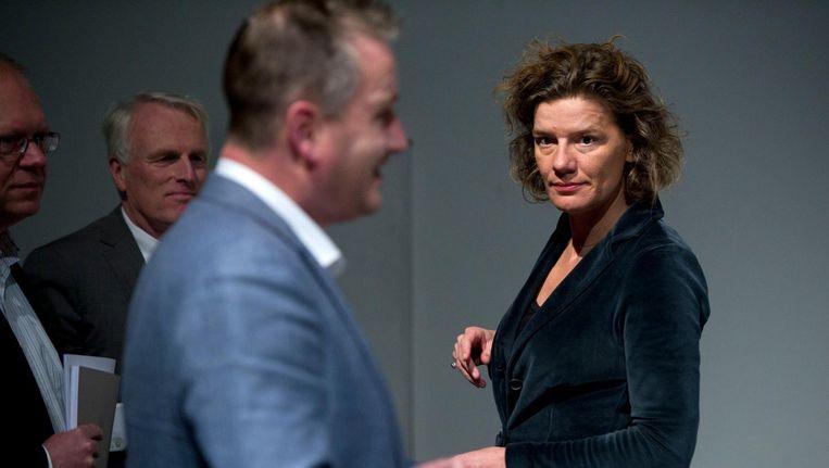 In het stadhuis zou verdeeldheid zijn over Femke Halsema of Carolien Gehrels - zie foto - als nieuwe burgemeester van Amsterdam. Beeld ANP