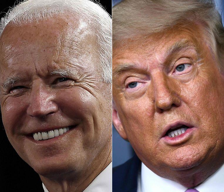 Joe Biden vs Donald Trump. Beeld AFP