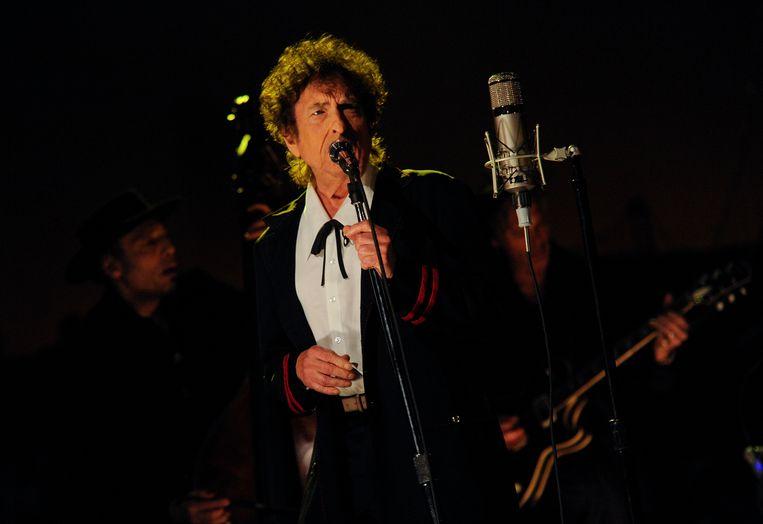 Bob Dylan trad een paar jaar terug op bij David Letterman.  Beeld CBS via Getty Images