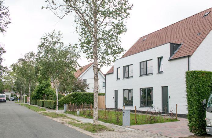 In de Berkenlaan werd een huis afgebroken om plaats te maken voor een nieuwbouw met twee woningen (rechts), wat in de wijk allerminst op gejuich werd onthaald.