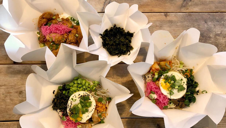 Er zijn bij Kim Chi Wow zes soorten bibimbap te bestellen