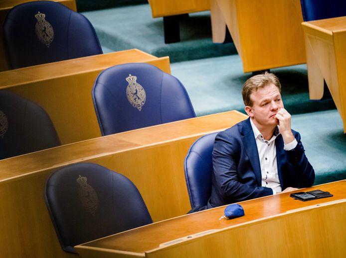 Pieter Omtzigt in de Tweede Kamer tijdens het wekelijks vragenuur.