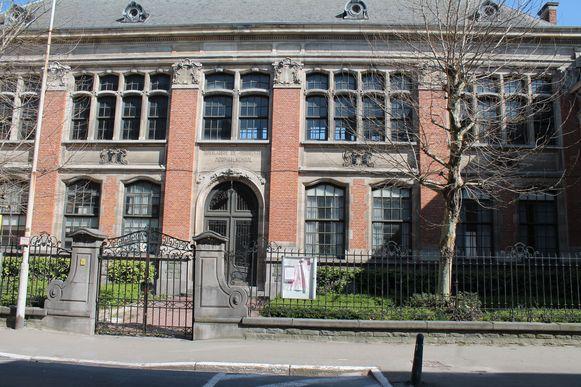 De voorgevel van de vroegere Rijksnormaalschool in Lier.