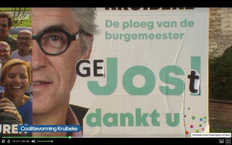 Van dank voor de stemmen naar een gejoste Jos: in Kruibeke is het knip-en-plakwerk.