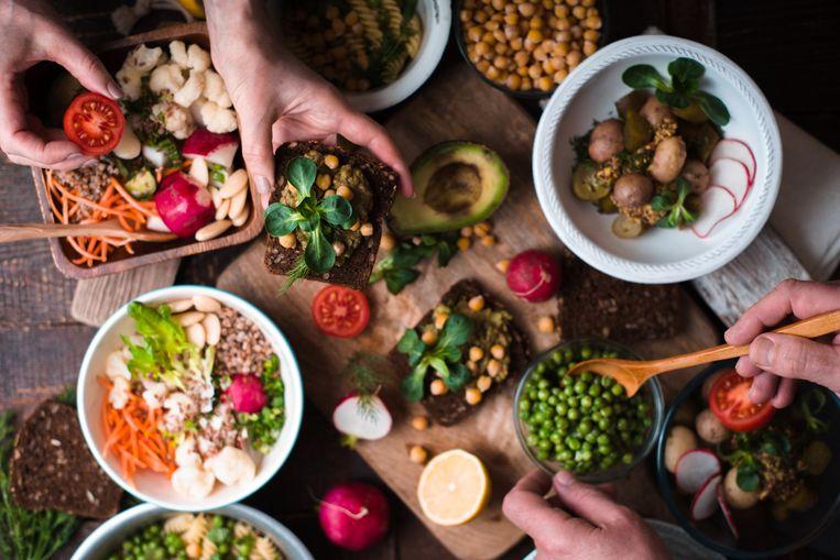Veganistische hapjes zijn steeds populairder bij de Belgen. Beeld Thinkstock