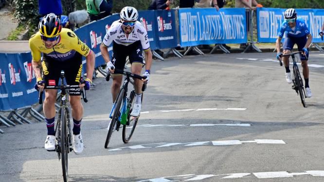 Julian Alaphilippe en Primoz Roglic rijden snelste tijd ooit op de Muur van Hoei
