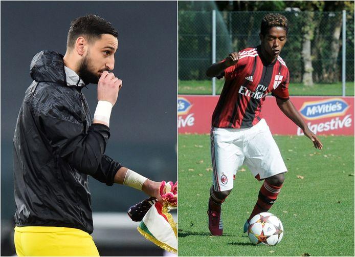 Doelman Gianluigi Donnarumma (l) speelde in de jeugd bij Milan samen met Visin. ,,Hij was een vriend, een jongen zoals ik.''