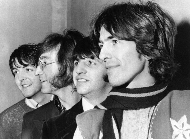Voor één keer op de voorste rij bij The Beatles: George Harrison. Beeld AP
