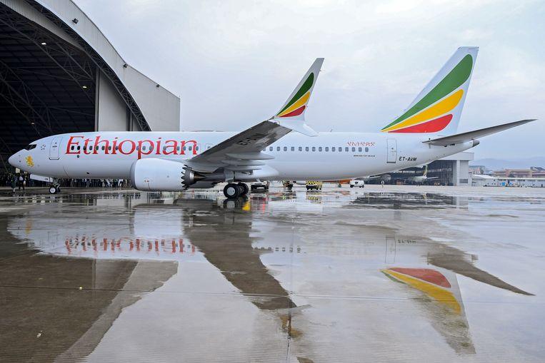 Een Boeing 737 Max-8 van Ethiopian Airlines. Beeld EPA