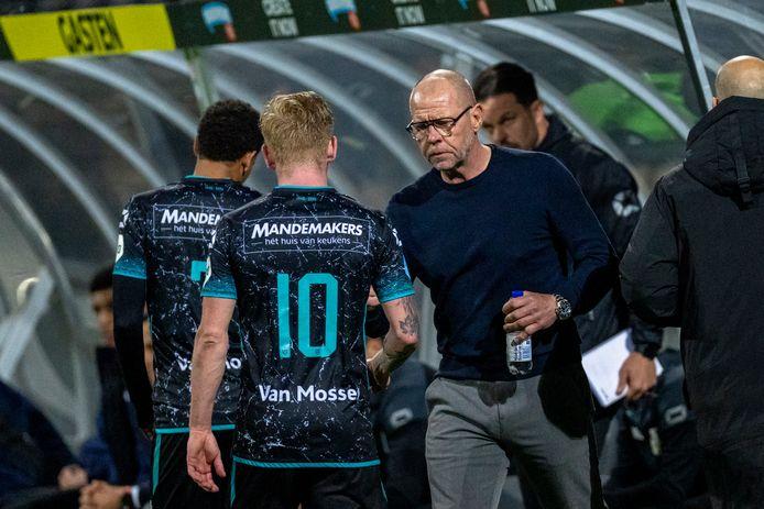 Fred Grim na afloop van de wedstrijd VVV-Venlo-RKC (3-3)