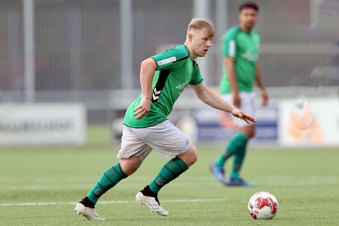 Björn Wagenaar van SVV Scheveningen. Foto Haaglandenvoetbal/Aad van der Knaap
