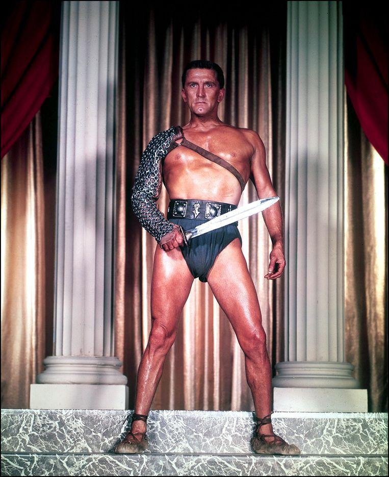 De film die hem onsterfelijk zou maken: 'Spartacus' (1960), over de leider van een slavenopstand tegen de Romeinen.
