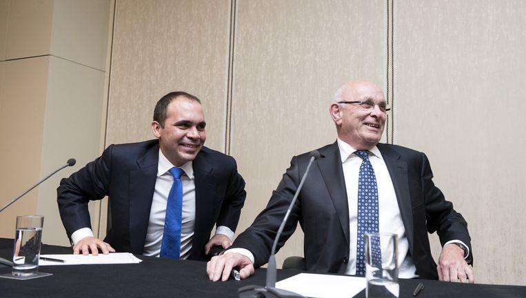 Michael van Praag trekt zich donderdag in het Amsterdamse Hilton officieel terug als kandidaat voor het FIFA-voorzitterschap. Beeld Sanne De Wilde