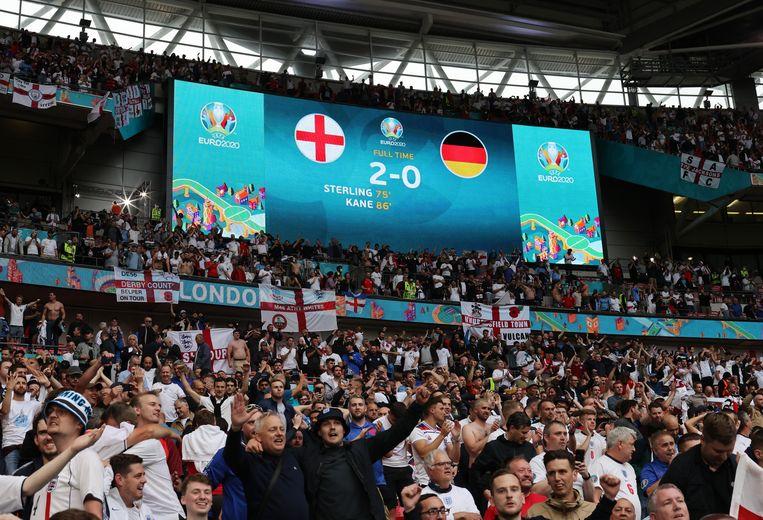 Match op Wembley tussen Engeland en Duitsland Beeld Pool via REUTERS