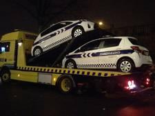 Vandalen prikken banden lek van auto's Handhaving Utrecht
