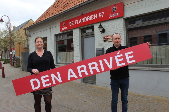 Lieven en Nathalie Buyse veranderen de naam De Flandrien 97 in Den Arrivée. Want dat moet van de rechter.
