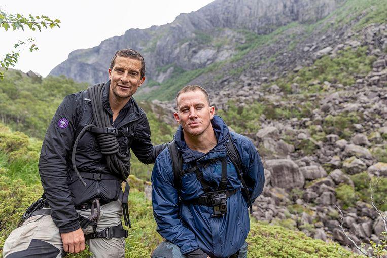 In zijn tv-debuut 'Man vs. Wild' at Grylls onder meer levende larven. Voor 'Running Wild' op National Geographic trekt hij dan weer de natuur in met beroemdheden. Vooral acteur Channing Tatum (r.) maakte indruk.