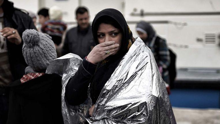 De afgelopen twee maanden arriveerden ruim 120.000 vluchtelingen op de Griekse eilanden. Beeld afp