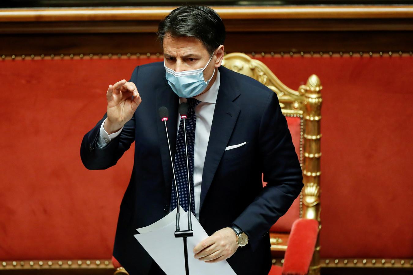 Italiaans premier Giuseppe Conte.
