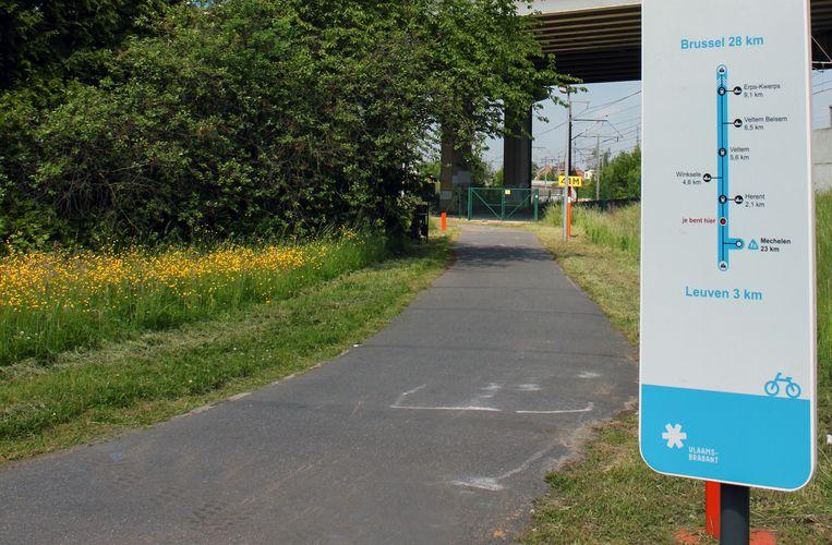 De fietssnelweg F8 in Herent