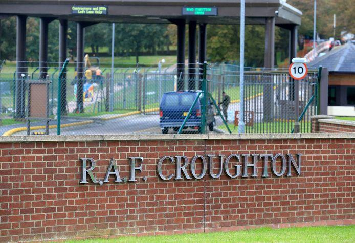 RAF Croughton in Northamptonshire. De militaire basis waar de vrouw wegreed op 27 augustus 2019.