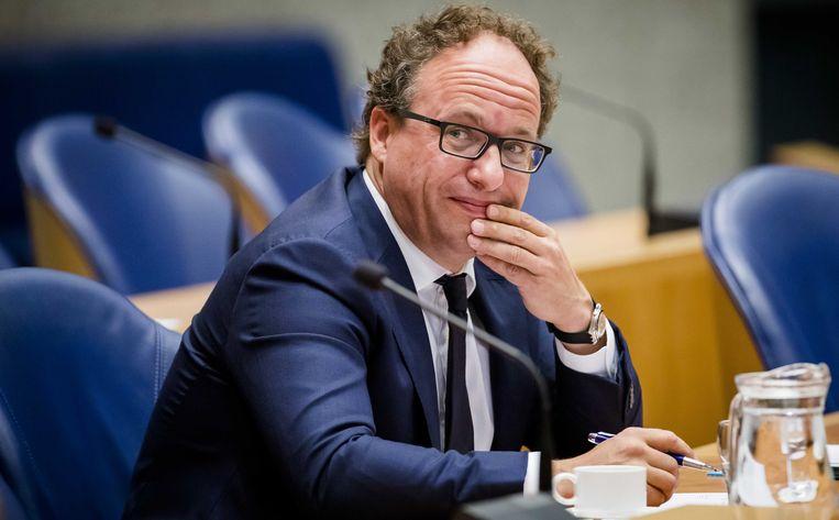 2019-09-05 16:10:24 DEN HAAG - Minister Wouter Koolmees van Sociale Zaken en Werkgelegenheid (D66) tijdens een debat in de Tweede Kamer over dreigende kortingen op de pensioenen. Beeld Bart Maat / ANP