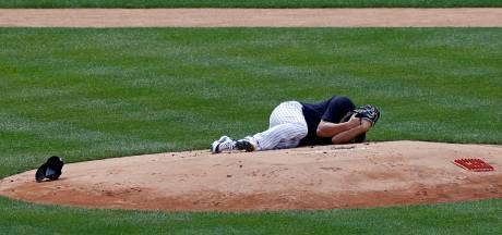 Honkballer Yankees in ziekenhuis na bal op hoofd: 'Bizar incident'