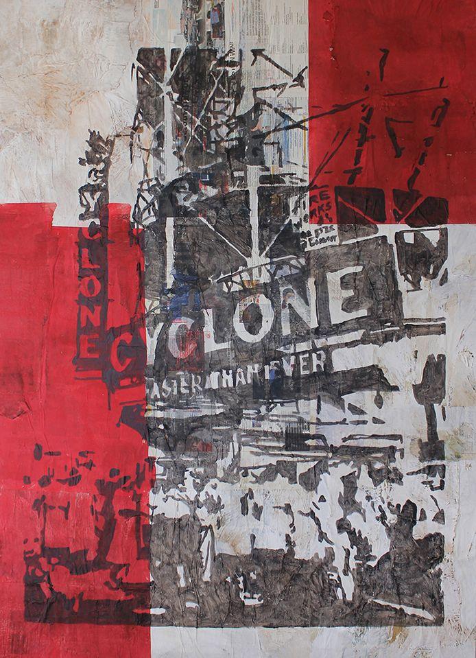 Kunstenaar Kristof Maler stelt tentoon in Plazarama in Willebroek.