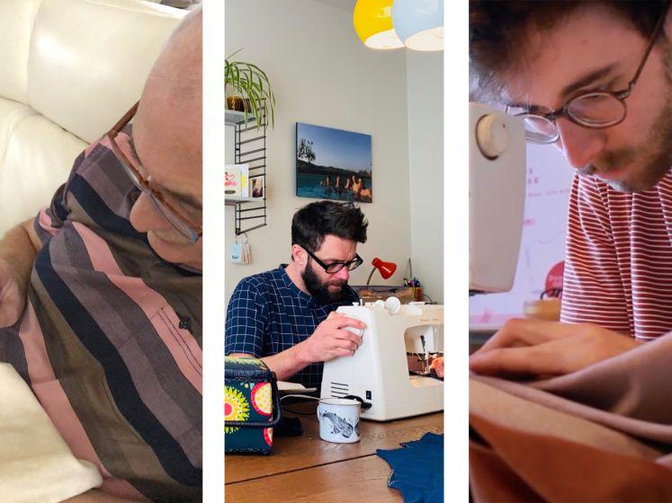 """Steeds meer mannen naaien. Ruben (24), John (43) en Glyn (64) over hun passie voor stof en schaar: """"Ik naai, weg met de vooroordelen"""""""