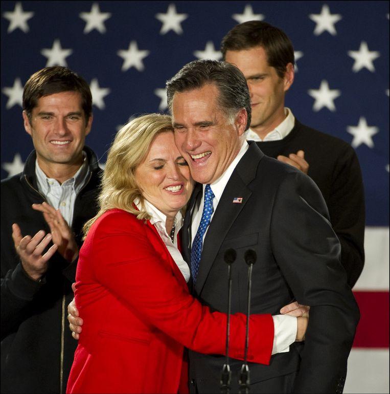 Mitt en Ann Romney. Beeld PHOTO_NEWS