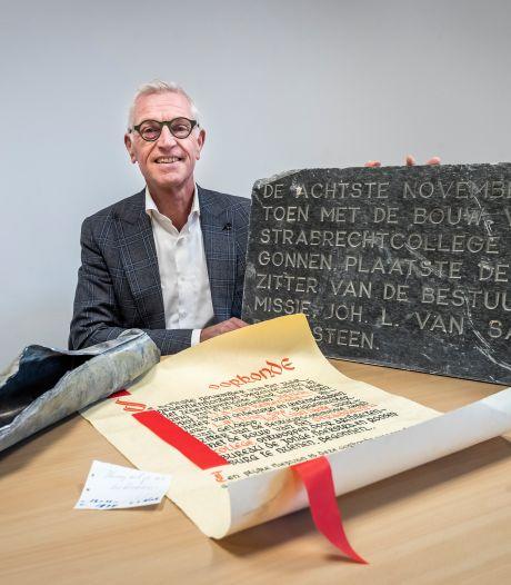 Gevonden loden buis in het oude Strabrecht College roept vragen op