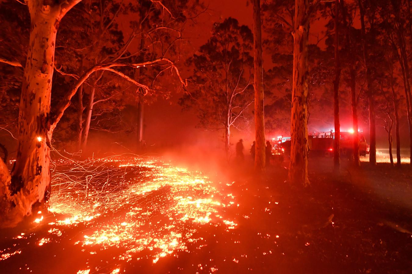 Bosbranden in het zuidoosten van Australië.