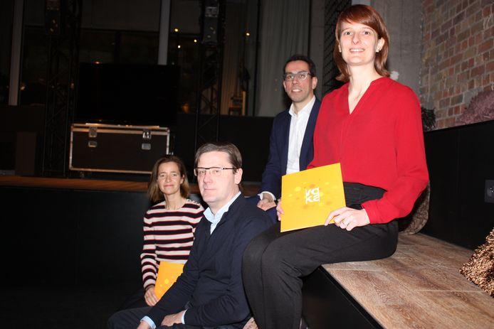 Veerle De Mey, Johan Verborgh, Dieter Coussée en Katrien Verfaille van Voka