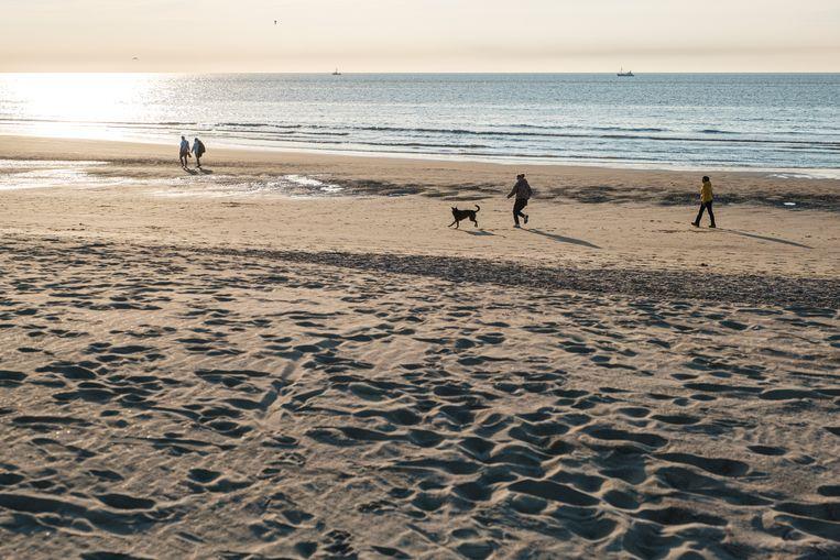 Het strand van Oostende. Beeld Wouter Van Vooren
