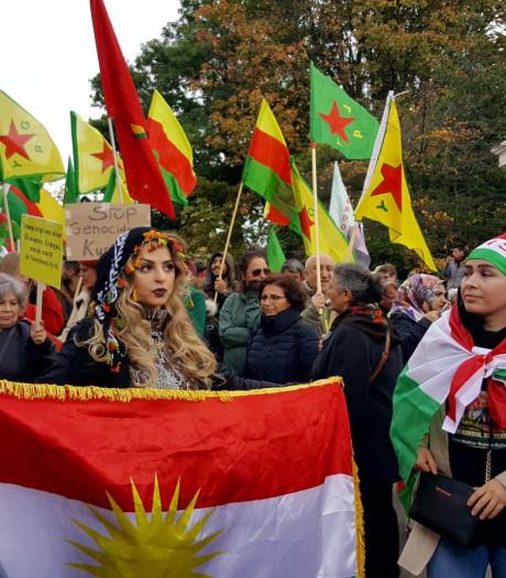 Honderden demonstranten op de been tegen operatie in Noord-Syrië