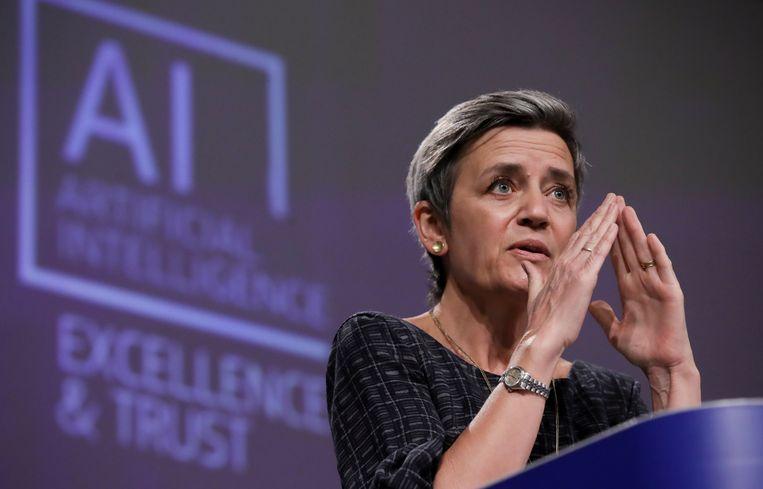 Vicevoorzitter Margrethe Vestager van de Europese Commissie heeft niets tegen kunstmatige intelligentie. Beeld REUTERS