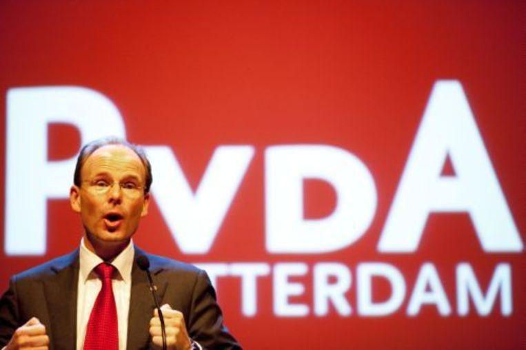 Lijsttrekker voor de PvdA in Rotterdam Dominic Schrijer. ANP Beeld