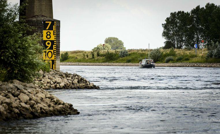 Laagwater in de IJssel nabij Doesburg, enkele jaren geleden.  Beeld ANP