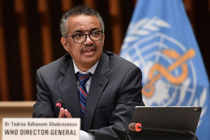 WHO-directeur Tedros Adhanom Ghebreyesus.