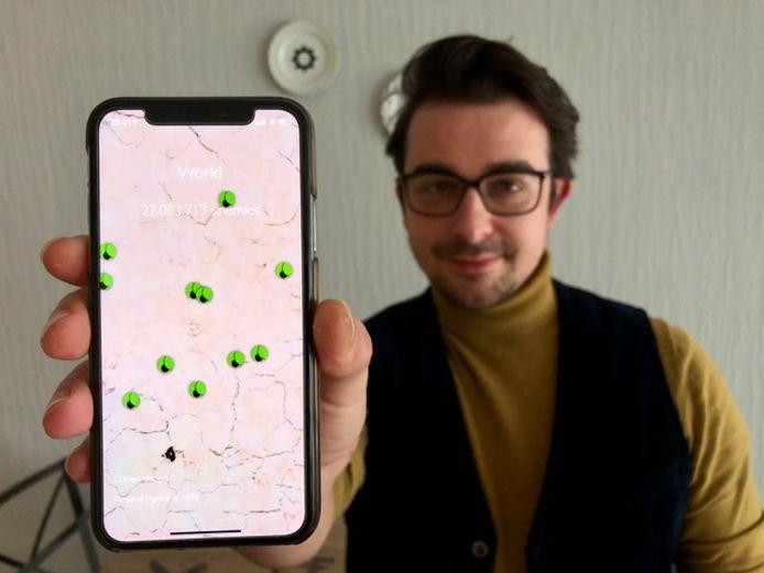 Laurent Marchal uit Tienen bedacht het smartphonespel Dodgebug en liet zich inspireren door de huidige pandemie.