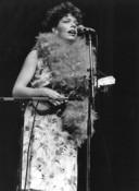 Brigitte Kaandorp tijdens het boekenbal 1986.