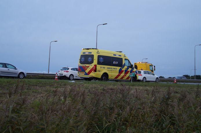 In deze ambulance werden de slachtoffers nagekeken.