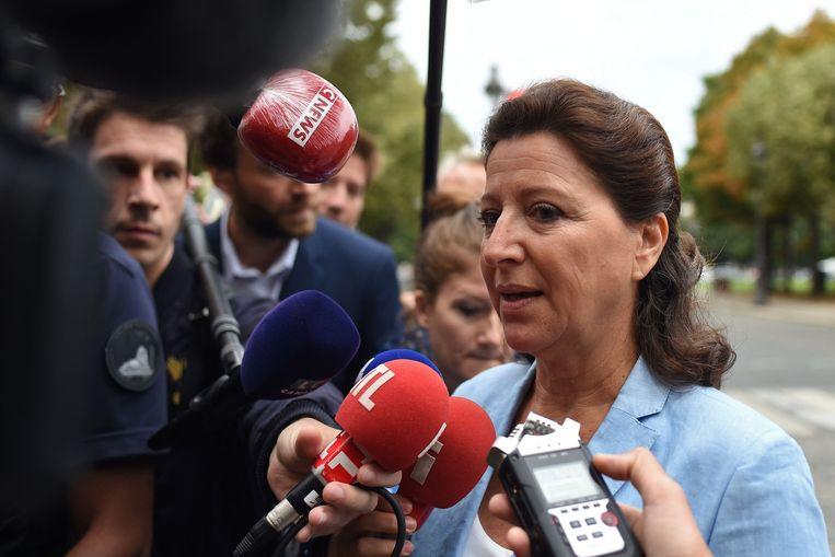 De voormalige Franse minister van Volksgezondheid, Agnès Buzyn, bij het gerechtsgebouw in Parijs. Beeld AFP