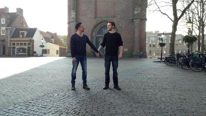 Jip Klompenhouwer (25) en Carlos Karels (53) uit Amersfoort.