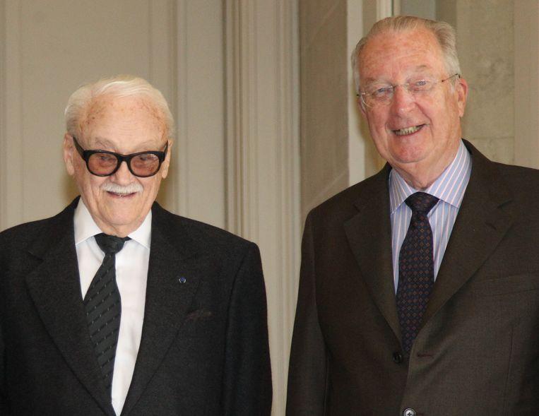 Toots Thielemans met koning Albert II in april 2012.
